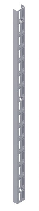 Seinäkisko Element System 2-reikäinen Harmaa Alumiini 45 cm