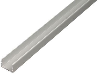 U-profiili Alumiini 24,6 x 24 x 1,8 mm 1 m