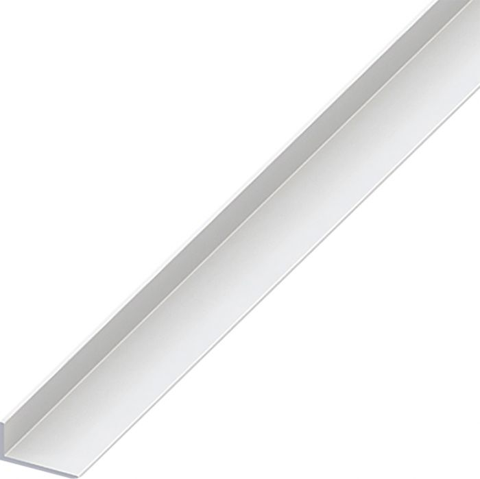L-kulmaprofiili Valkoinen 20 x 10 x 2000 mm