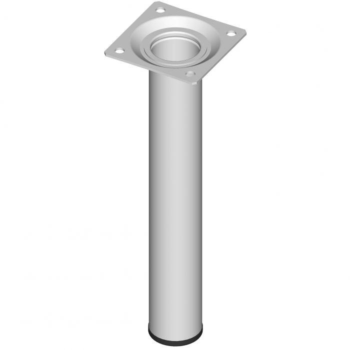 Teräsputkijalka Element System Pyöreä Valkoinen 200 mm ⌀ 30 mm