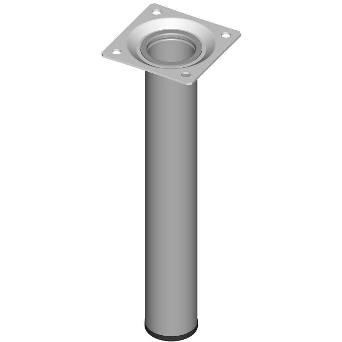 Teräsputkijalka Element System Pyöreä Valkoinen alumiini 200 mm ⌀ 30 mm