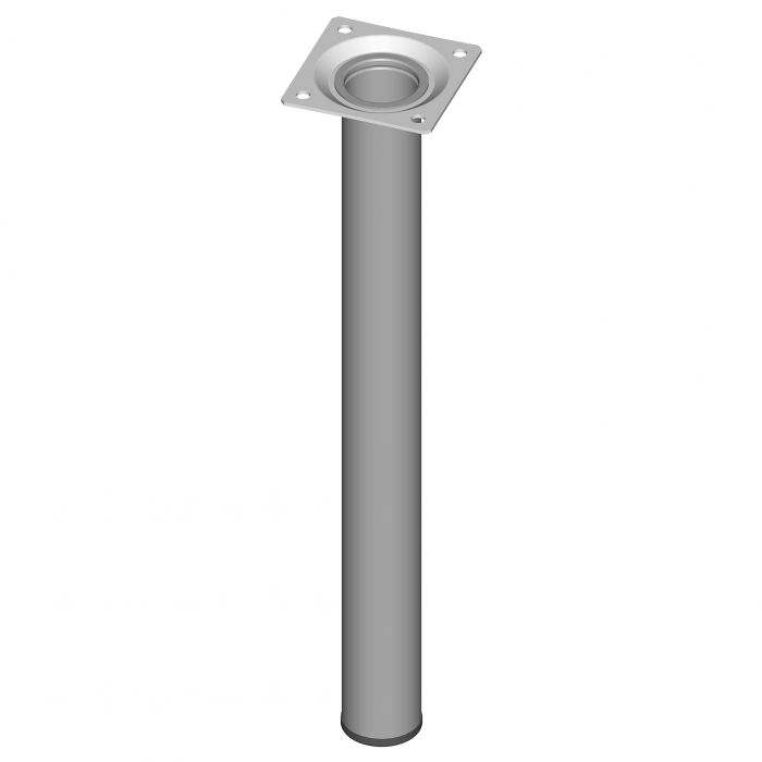 Teräsputkijalka Element System Pyöreä Valkoinen alumiini 300 mm ⌀ 30 mm