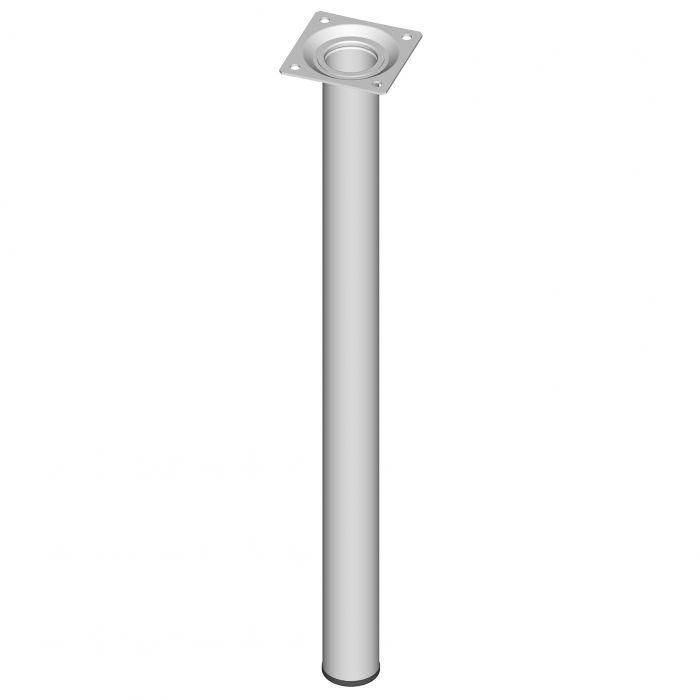 Teräsputkijalka Element System Pyöreä Valkoinen 500 mm ⌀ 30 mm