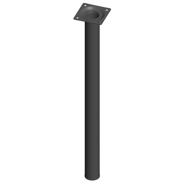 Teräsputkijalka Element System Pyöreä Musta 500 mm ⌀ 30 mm