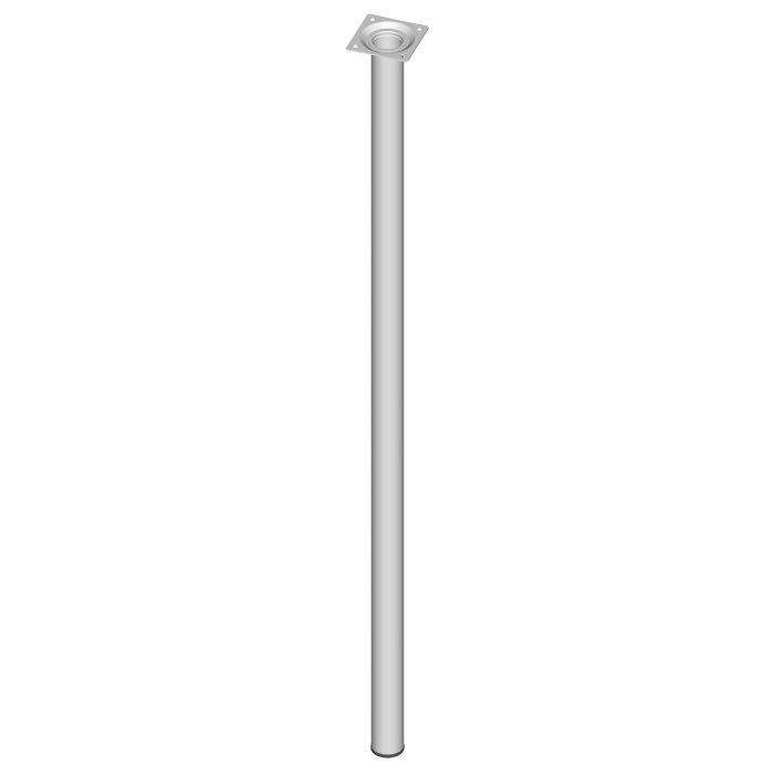 Teräsputkijalka Element System Pyöreä Valkoinen 800 mm ⌀ 30 mm