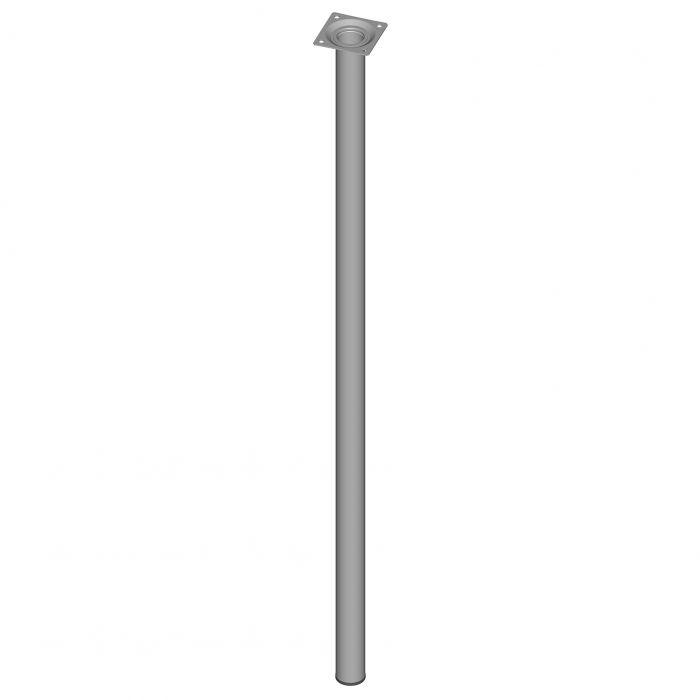 Teräsputkijalka Element System Pyöreä Valkoinen alumiini 800 mm ⌀ 30 mm