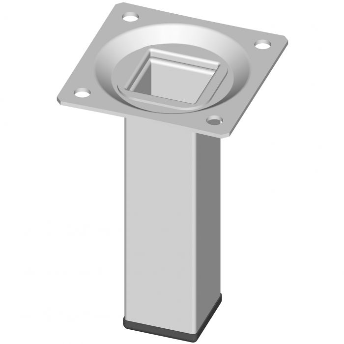 Teräsputkijalka Element System Neliö Valkoinen 100 mm 25 x 25 mm