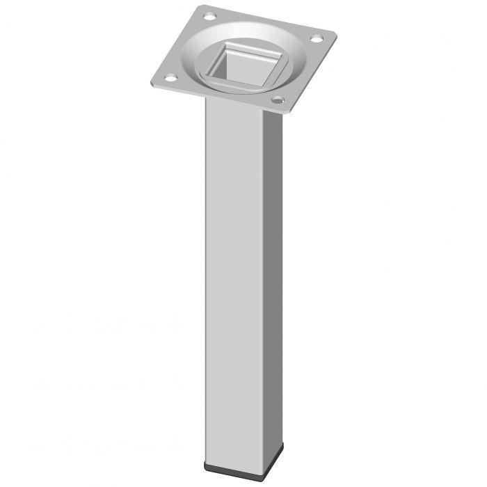 Teräsputkijalka Element System Neliö Valkoinen 200 mm 25 x 25 mm