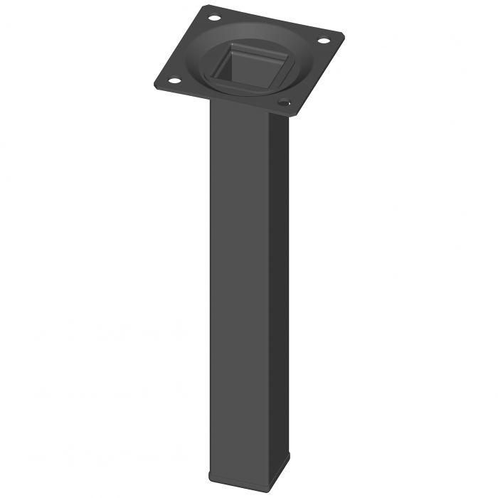Teräsputkijalka Element System Neliö Musta 200 mm 25 x 25 mm