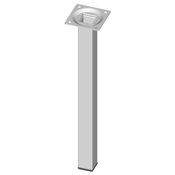 Teräsputkijalka Element System Neliö Valkoinen 300 mm 25 x 25 mm