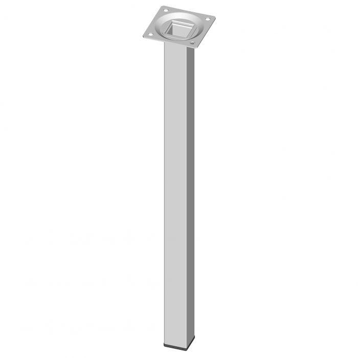Teräsputkijalka Element System Neliö Valkoinen 400 mm 25 x 25 mm