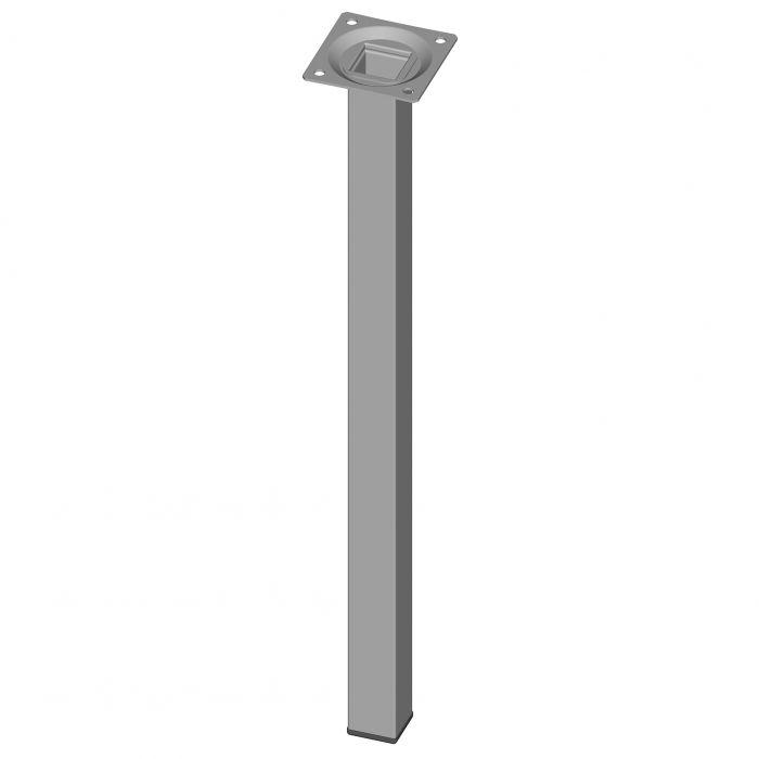 Teräsputkijalka Element System Neliö Valkoinen alumiini 400 mm 25 x 25 mm