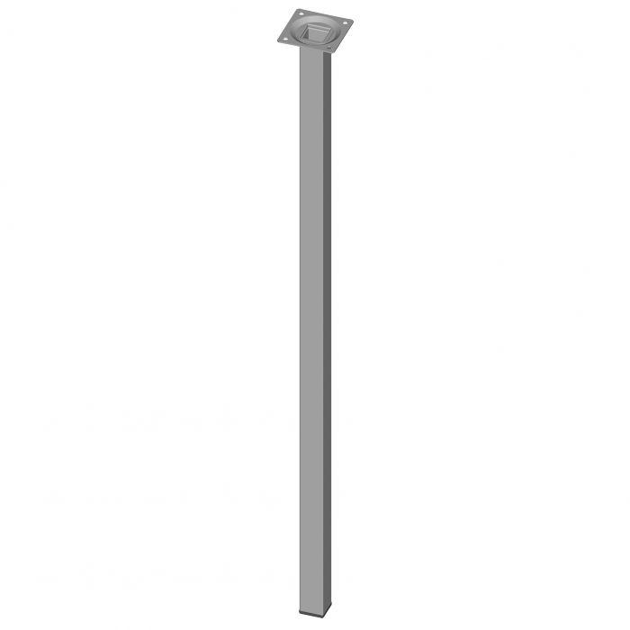 Teräsputkijalka Element System Neliö Valkoinen alumiini 700 mm 25 x 25 mm