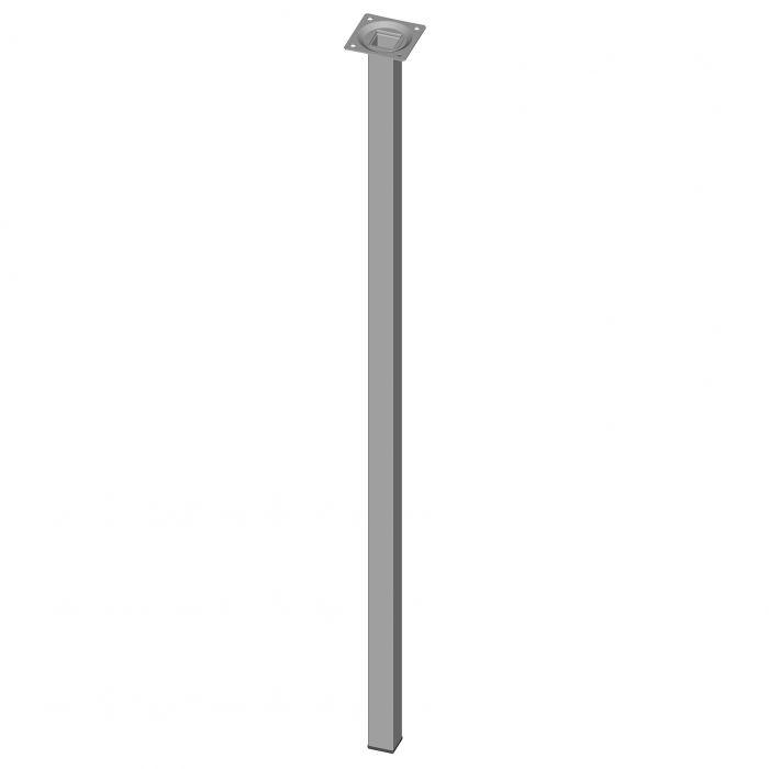 Teräsputkijalka Element System Neliö Valkoinen alumiini 800 mm 25 x 25 mm