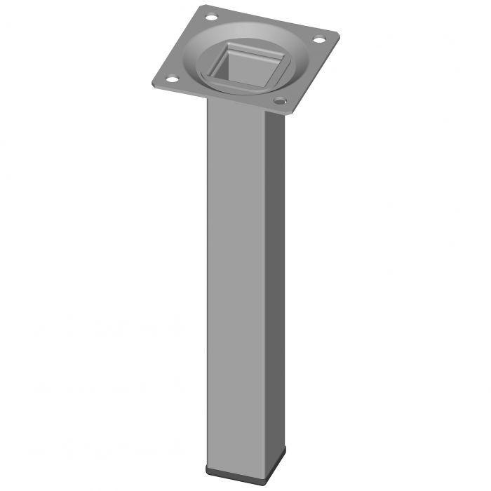 Teräsputkijalka Element System Neliö Valkoinen Alumiini 200 mm 25 x 25 mm