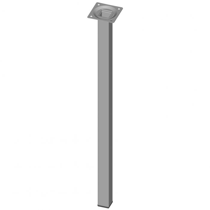 Teräsputkijalka Element System Neliö Valkoinen alumiini 500 mm 25 x 25 mm