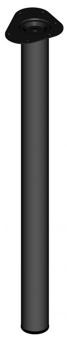 Teräsputkijalka Element System Pyöreä Musta 800 mm ⌀ 60 mm
