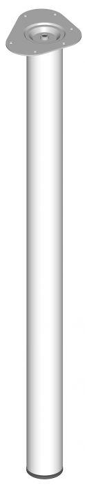 Teräsputkijalka Element System Pyöreä Valkoinen 900 mm