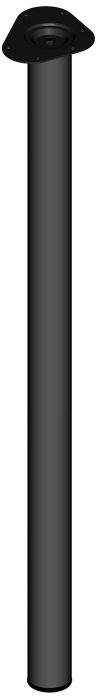 Teräsputkijalka Element System Pyöreä Musta 1100 mm ⌀ 60 mm