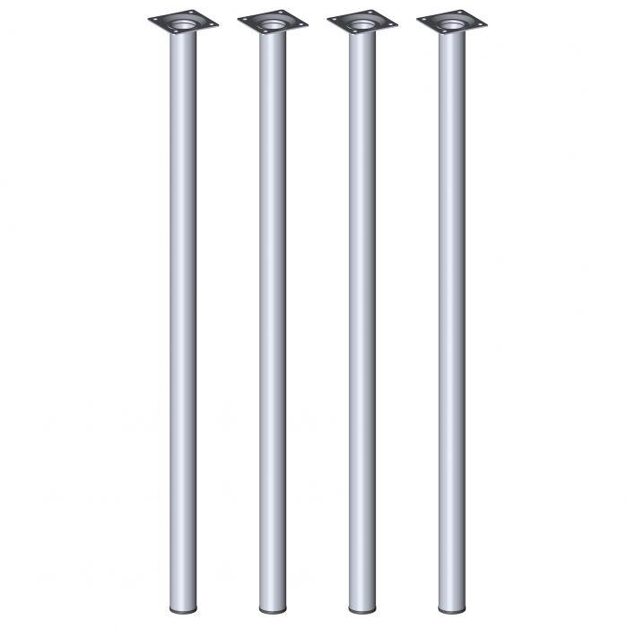 Teräsputkijalkasetti 4 kpl Element System Pyöreä Kromi 700 mm ⌀ 30 mm