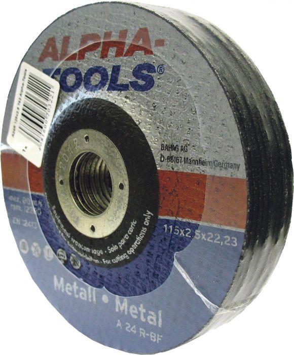 Katkaisulaikka Alpha-Tools Metalli A 24 R-BF 115 x 2,5, T42, 10 kpl/pakk