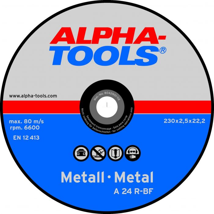 Katkaisulaikka Alpha-Tools Metalli A 24 R-BF 230 x 2,5, T41, 5 kpl/pkt