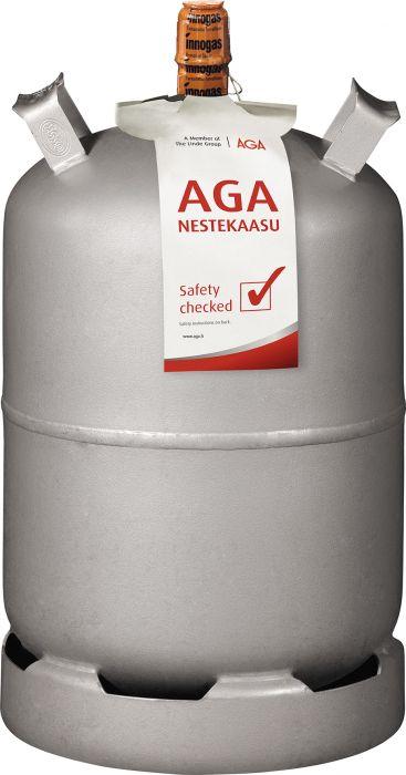 Nestekaasu AGA Teräspullo 11 kg KV Täyttö