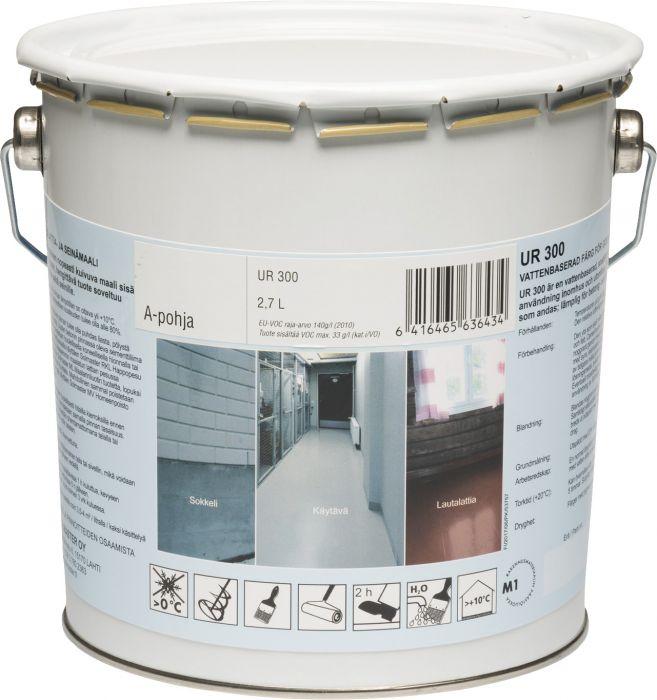 Lattia- ja seinämaali Solmaster UR300 2,7 l Valkoinen