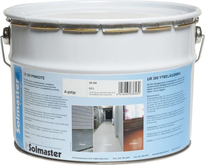 Lattia- ja seinämaali Solmaster UR300 9 l Valkoinen