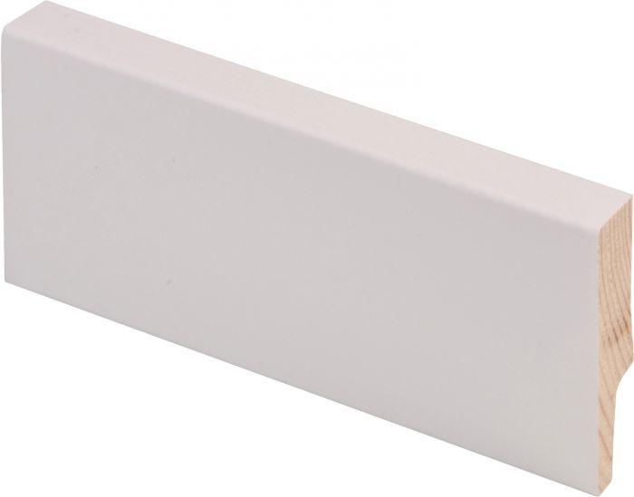 Jalkalista Maler 12 x 58 x 2700 mm Mänty Sormijatkettu Valkoinen