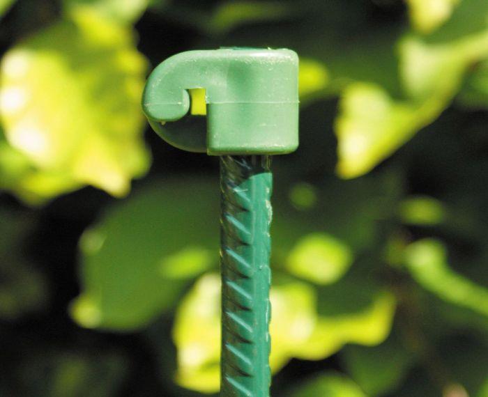 Harjaterästolppa vihreä 10 mm x 145 cm