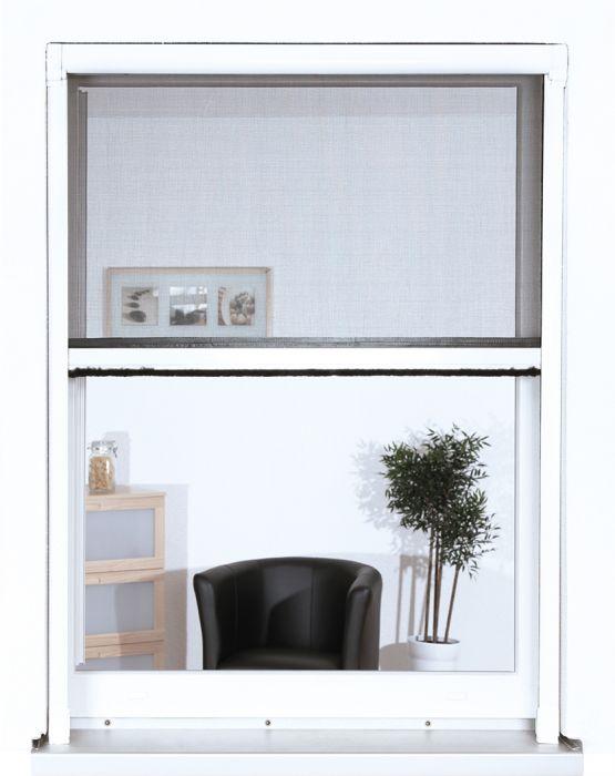 Hyönteisrullakaihdin ikkunaan Easy Life 130 x 160 cm Antrasiitti/Valkoinen