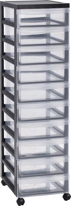 Muovilaatikosto 10 lokeroa 105,5 x 29 x 40 cm