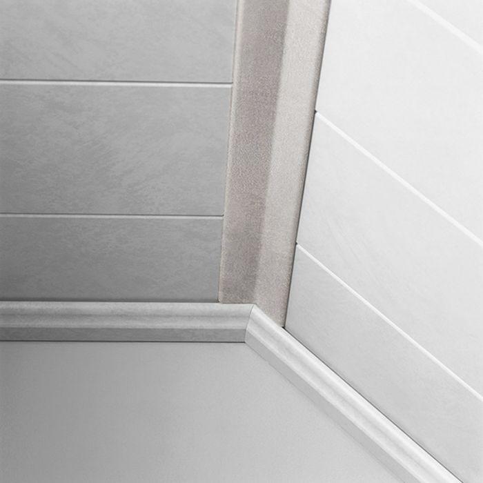 Sisäkulmalista Logoclic Carrara 22 x 22 x 2600 mm