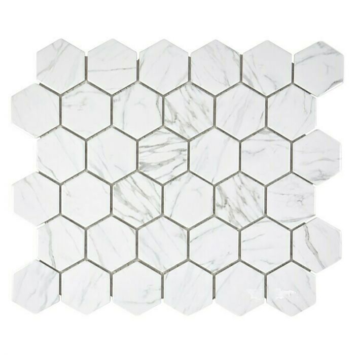 Mosaiikki Hexagon Carrara