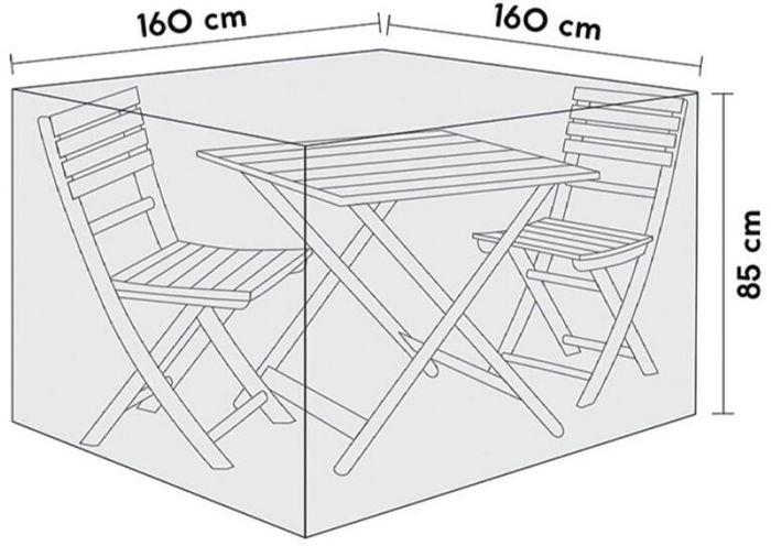 Kalustesuoja Sensum parvekeryhmä 160 x 160 x 85 cm