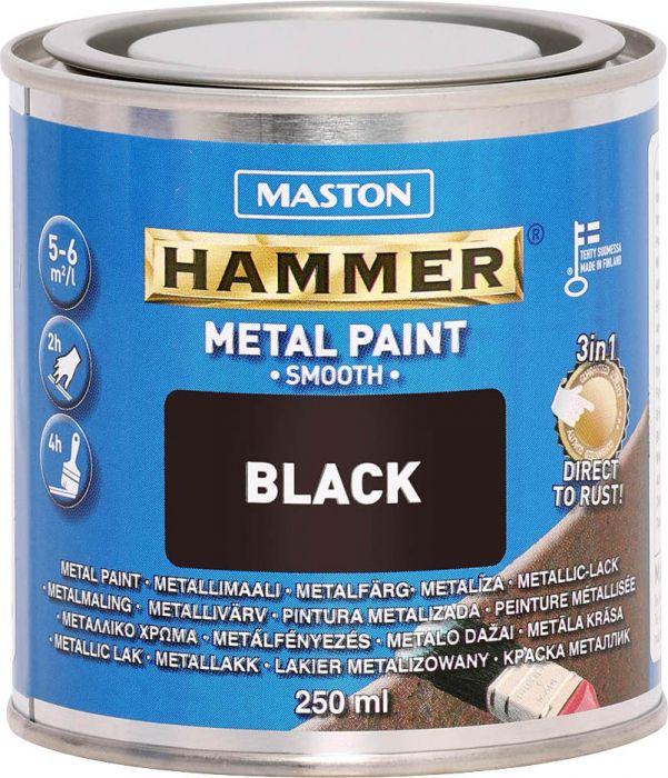 Maali Hammer Sileä Musta 250 ml