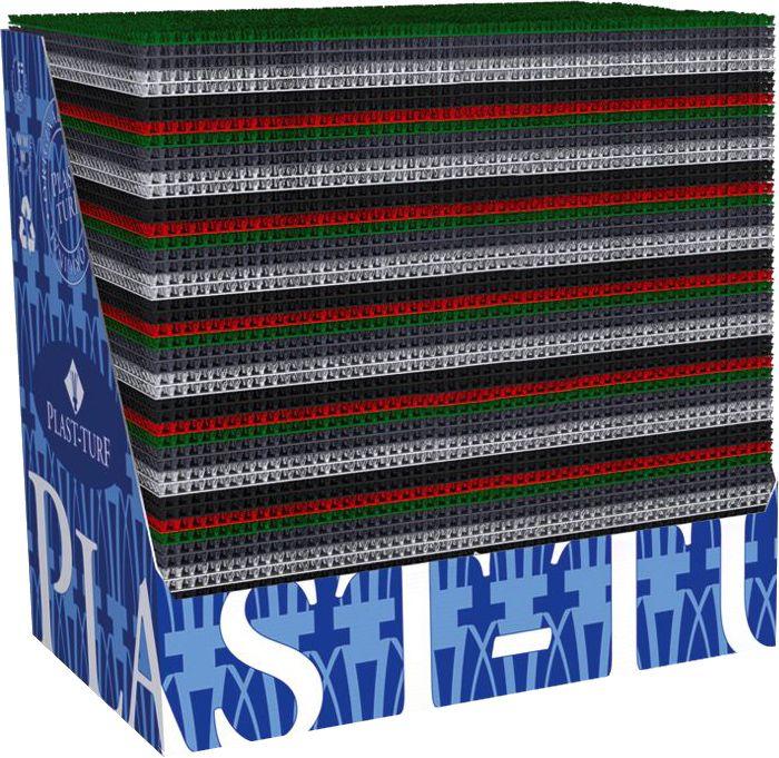 Ruohomatto Atplast Basic 86 x 114 cm Tummanruskea