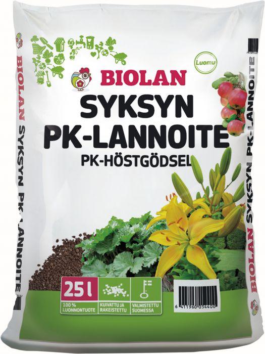 Syksyn PK-Lannoite Biolan 25 l