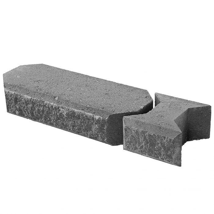 Lohkokansikivi Lakka Musta 480 + 80 x 200 x 100 mm