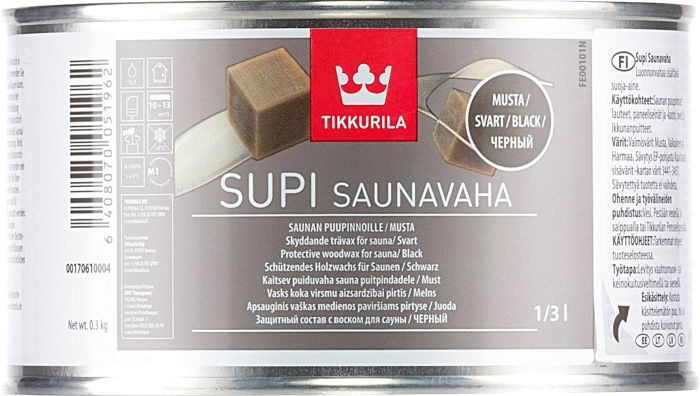 Supi Saunavaha Tikkurila Musta