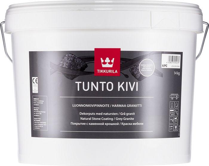 Luonnonkivipinnoite Tikkurila Tunto Kivi 9 l / 14 kg Harmaa