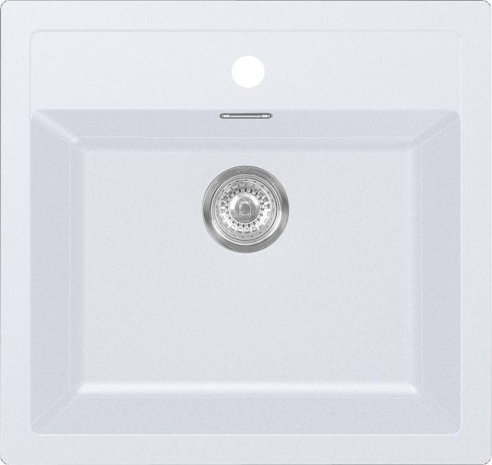 Komposiittiallas Franke Sirius 610 Tectonite Polar White