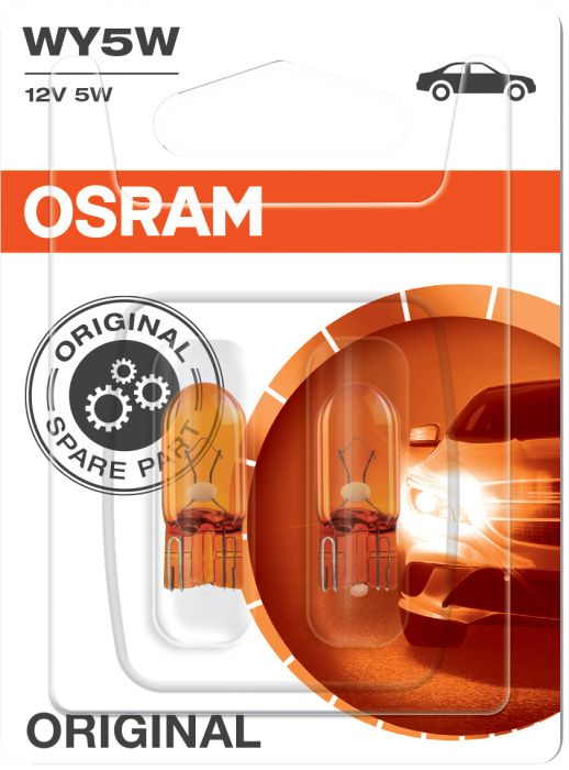 Polttimo Osram Original Vilkkuvalo 2827 WY5W Oranssi 2 kpl