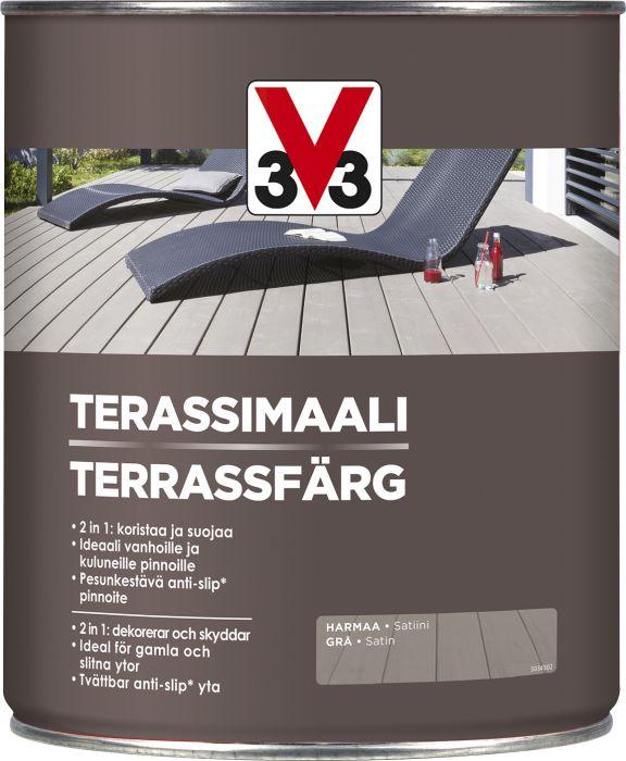 Terassimaali V33 Harmaa 2,5 L