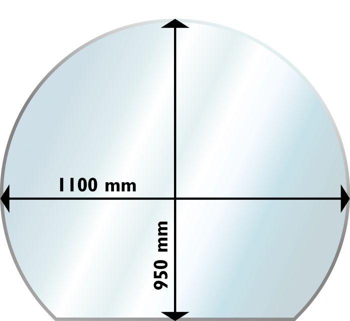Suojalevy Lattialle Aduro Lasi Pyöreä 1100 x 950 mm
