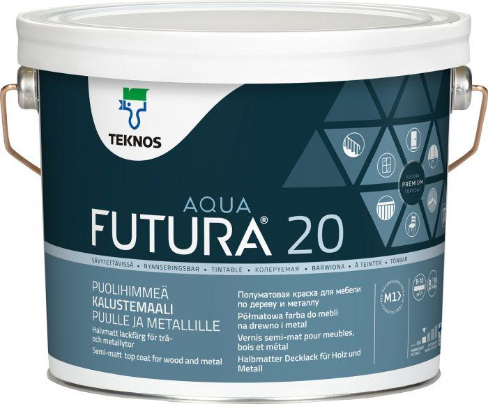 Kalustemaali Teknos Futura Aqua 20 Listavalkoinen
