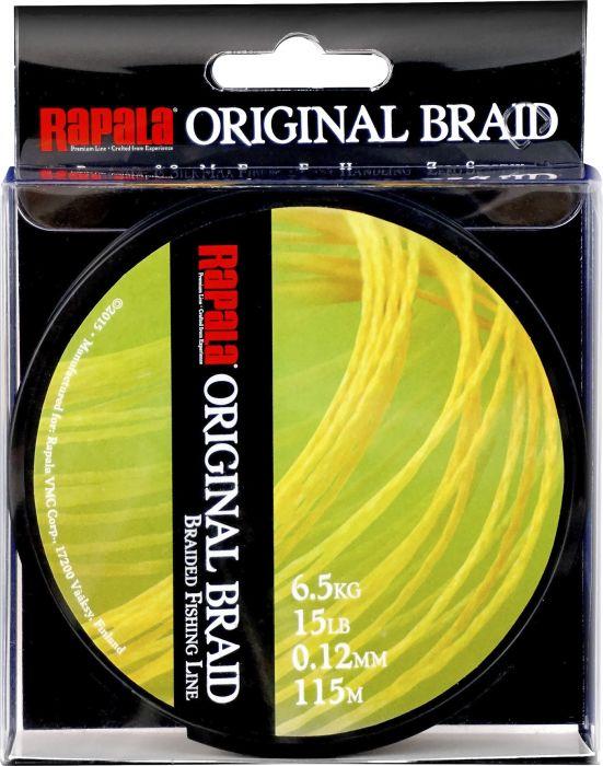 Monikuitusiima Rapala Original Braid 115 mm Keltainen