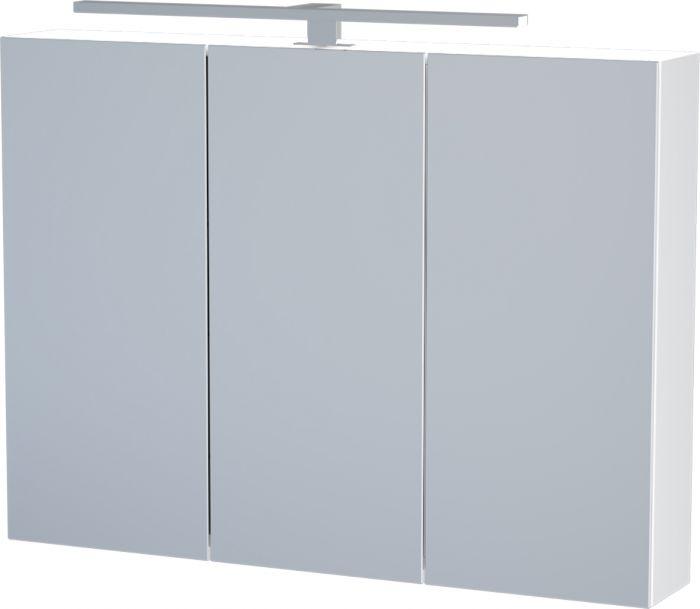 Peilikaappi Camargue Nord LED valkoinen 90 cm