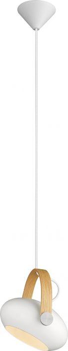 Riippuvalaisin Halotech D.C Valkoinen/tammi Ø18 cm